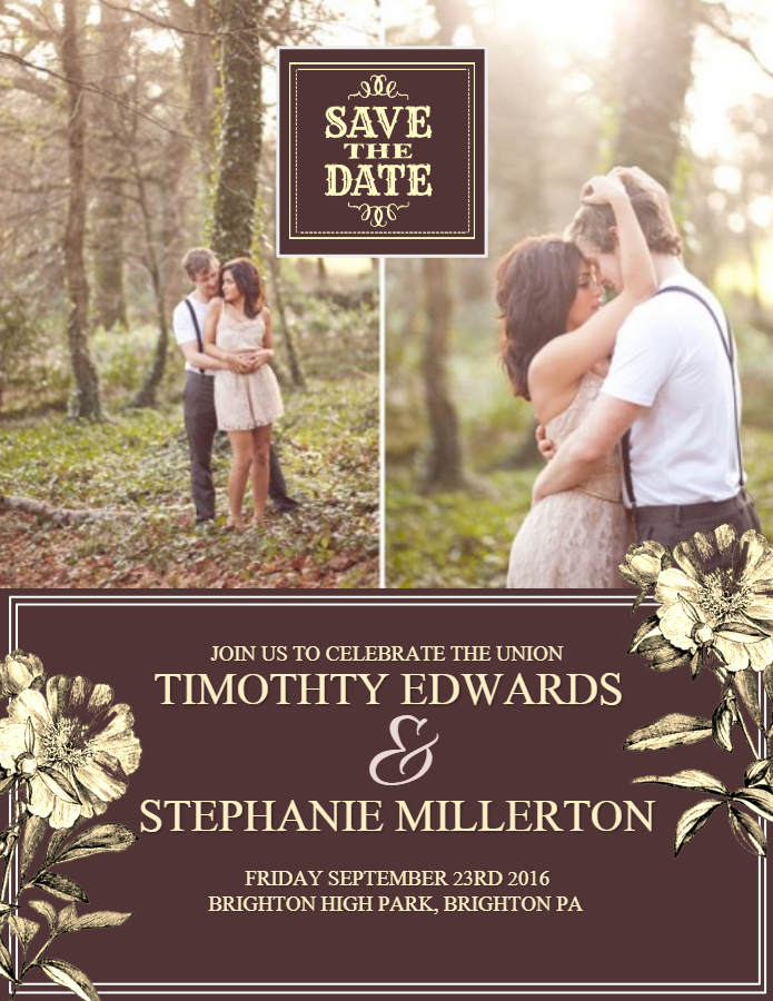 Save the date couples flyer