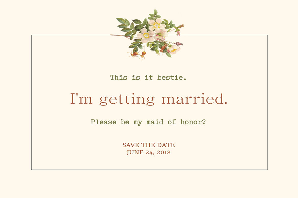 Bridesmaid invitation save the date