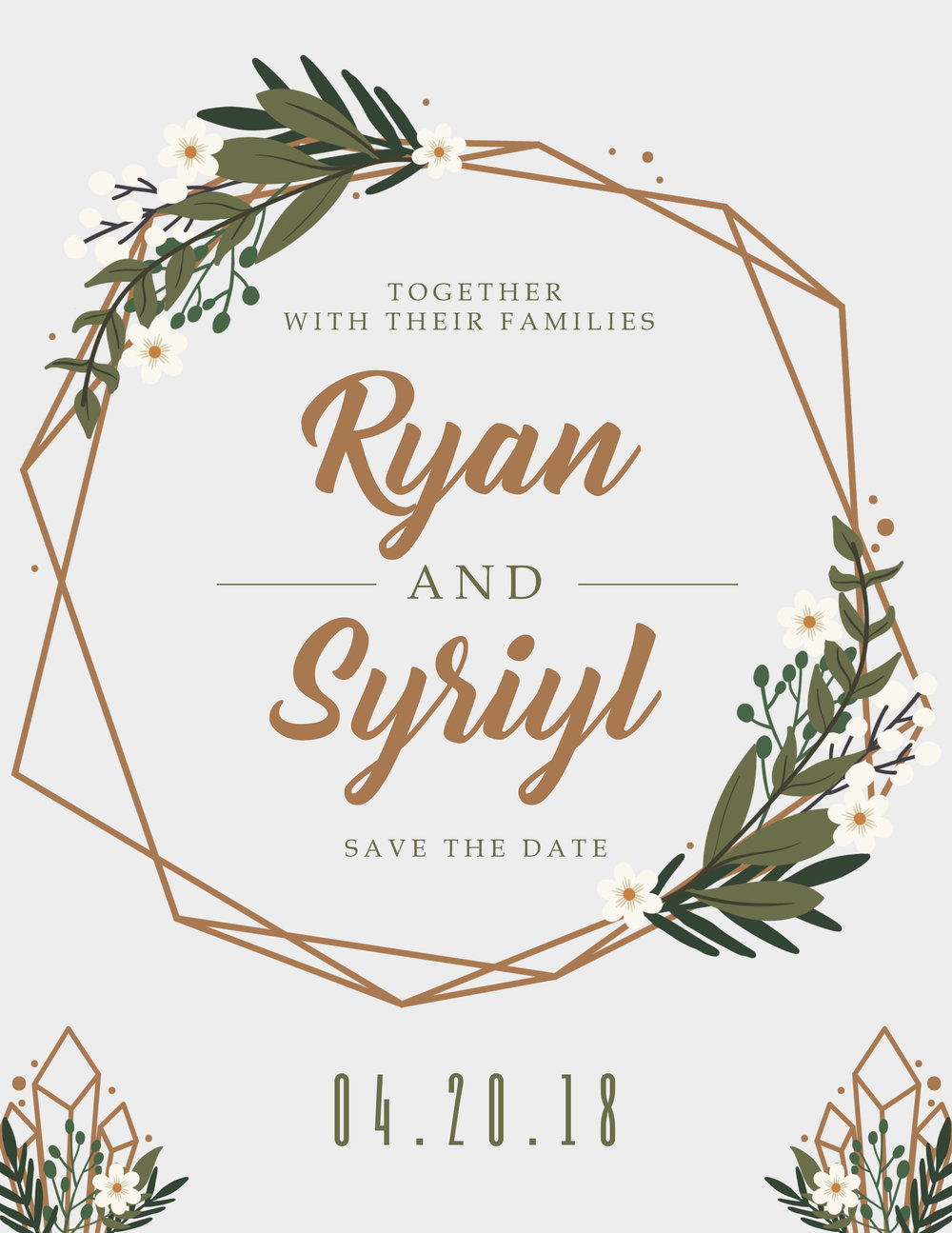 Modern Save the date formal invitation