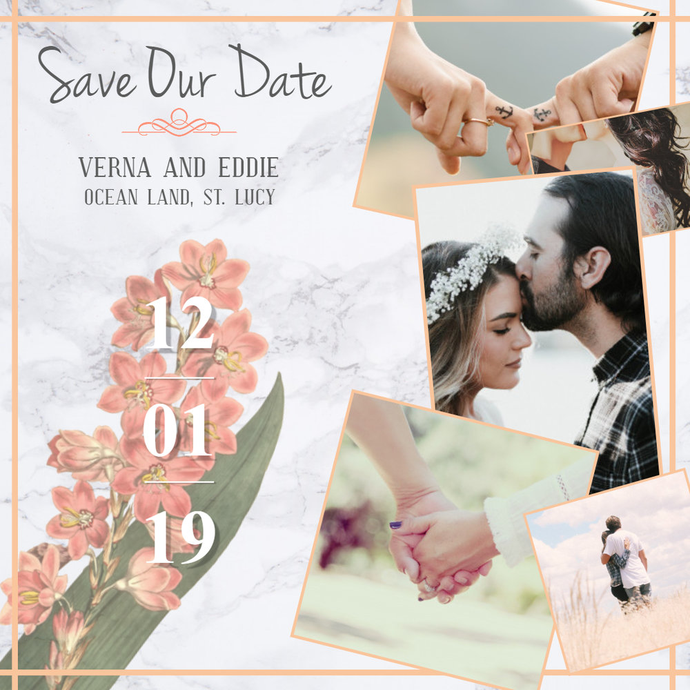 Formal save the date invitation