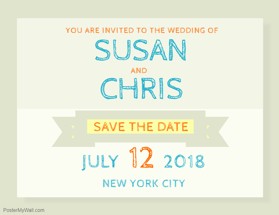 Save the date informal invitation