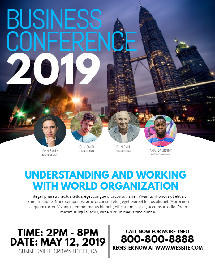 Business conference advertisement flyer template