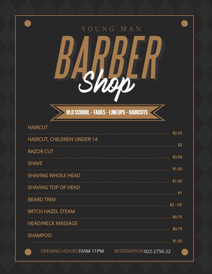 Regal Barber Hair Dresser for men flyer