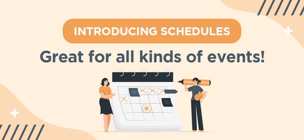 introducing schedules great for all kinds of events design studio