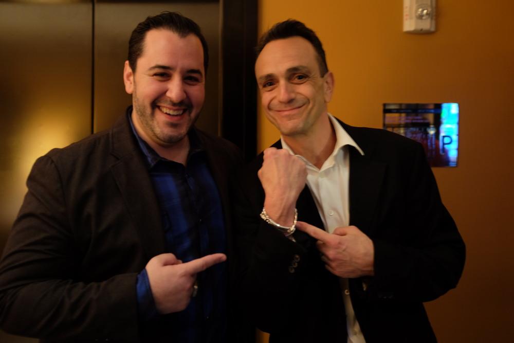 with Hank Azaria