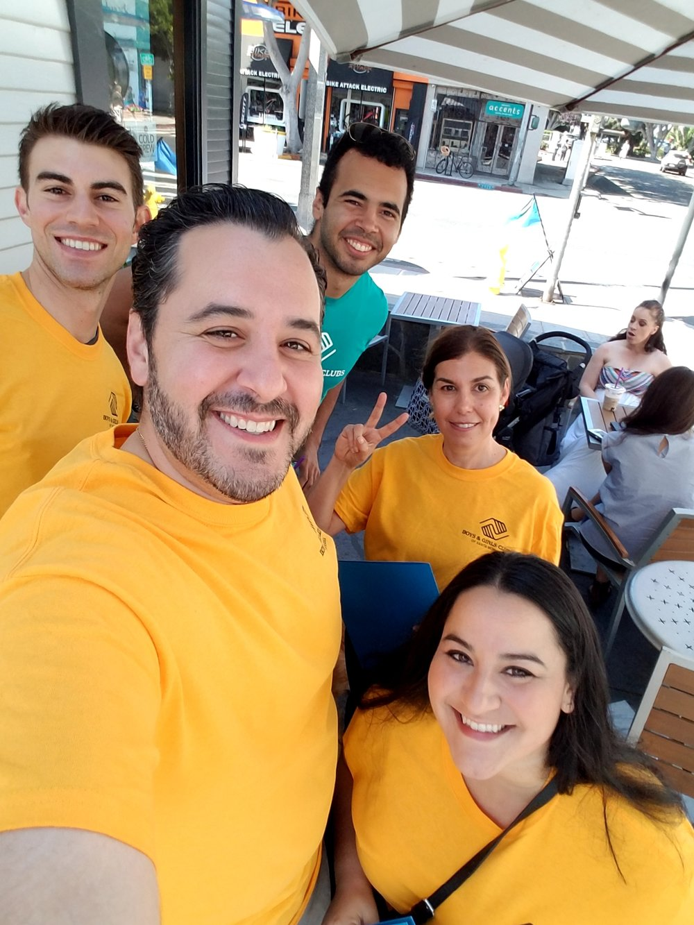 Council members, Ryan, Nicole, Kim and Tino, on our weekend canvass down Main Street. We walked to our local business introducing ourselves and picking up for auction items. Everyone was awesome and very welcoming. Our community is strong in Santa Monica!