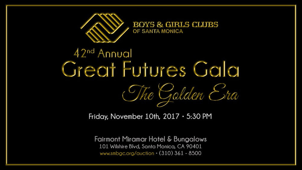 This year, I accepted the Chair position for the Community Council of the Boys and Girls Clubs of Santa Monica. We are a group of amazing volunteers giving back to this great organization, by coordinating this years GREAT FUTURES GALA! Please visit the website below for more details. It's all for the kids !!   https://portal11.bidpal.net/Portal/bpe310488/main/home.html;jsessionid=B8EB78CB587C3EB705944E5D2D4DABB2