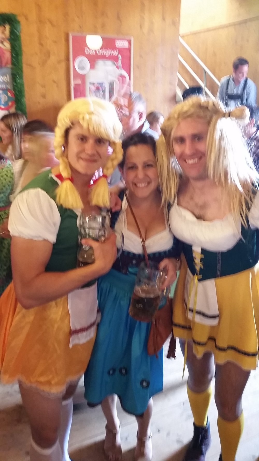 Sandwiched by a couple damsels in Munich!