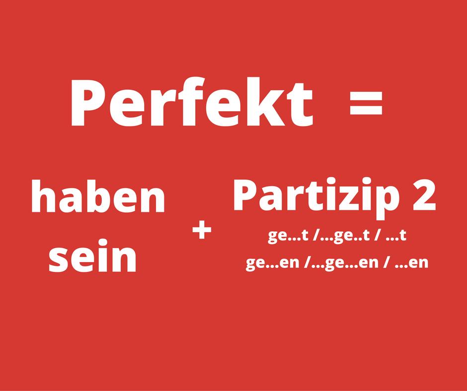 "Perfekt-Formel - Perfect with ""sein"""