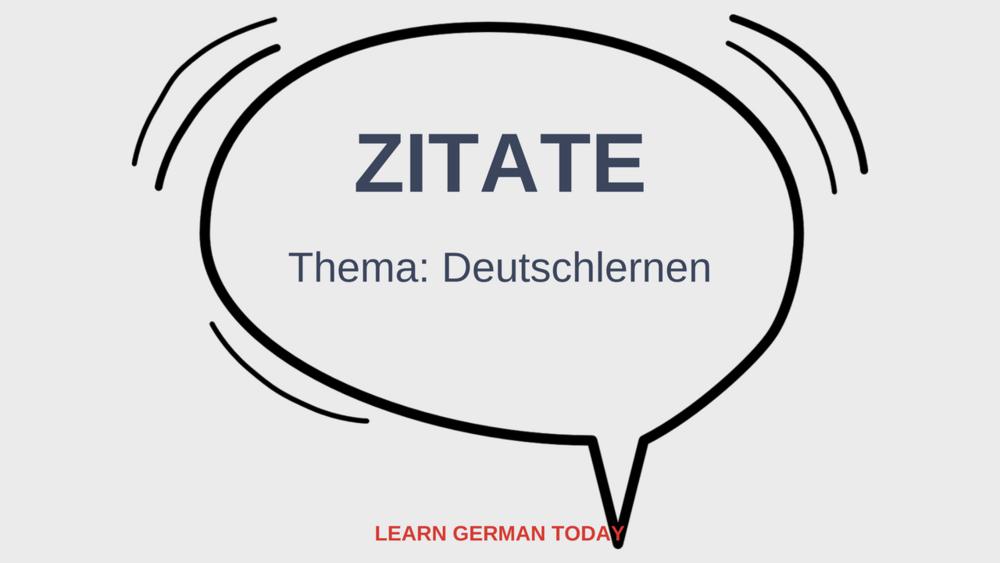 Blogpost: Zitate_Thema: Deutschlernen