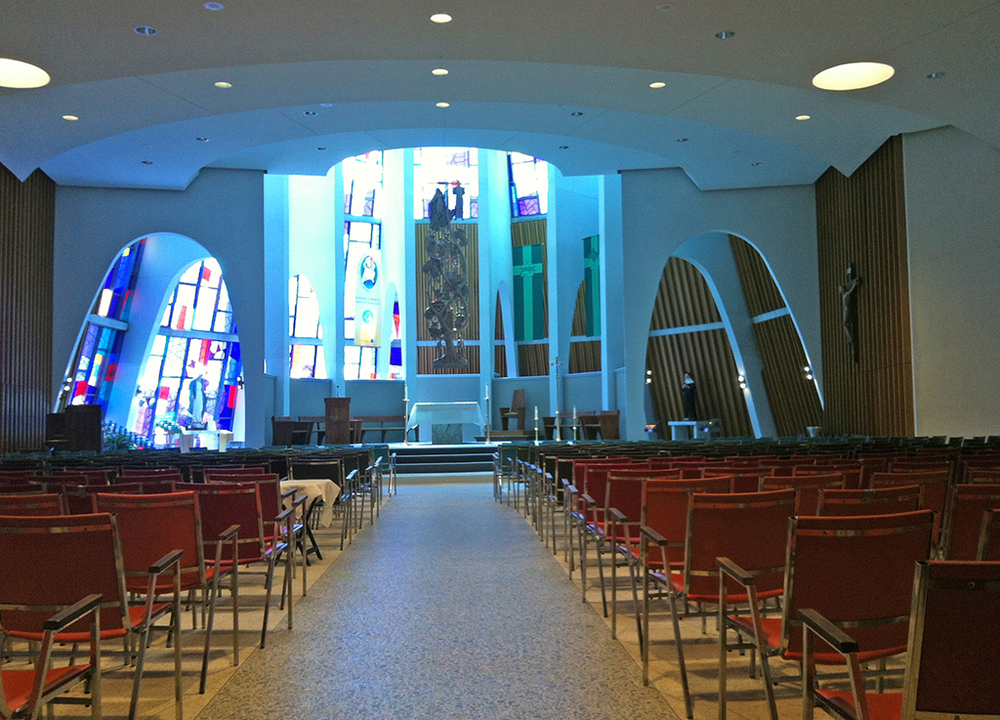 The new Shrine with a World-class Acoustic System for Sermons, Mass, Choirs ,  Concerts and Conferences  Refurbished in 2016. Click on the image for a larger view. Photo: Chris Lim  Photo of the Shrine at the top of this page: Peter Bok