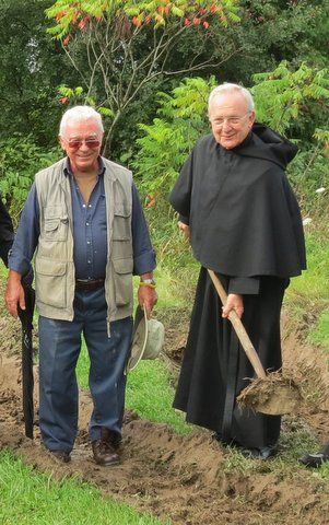 Past Prior, Br. Paul Koscielniak and Ted Harasti.
