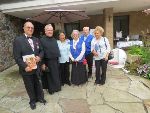 Consecration was followed by 1st. Fundraiser presentation and showing of Ted's original Greek Byzantine Icon of St. Gianna Beretta Molla, and Our Father Bead.