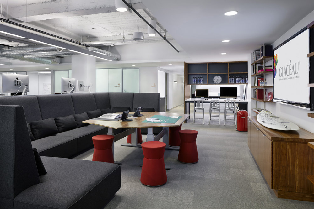 Coca-Cola / vitaminwater / smartwater office design, custom furniture