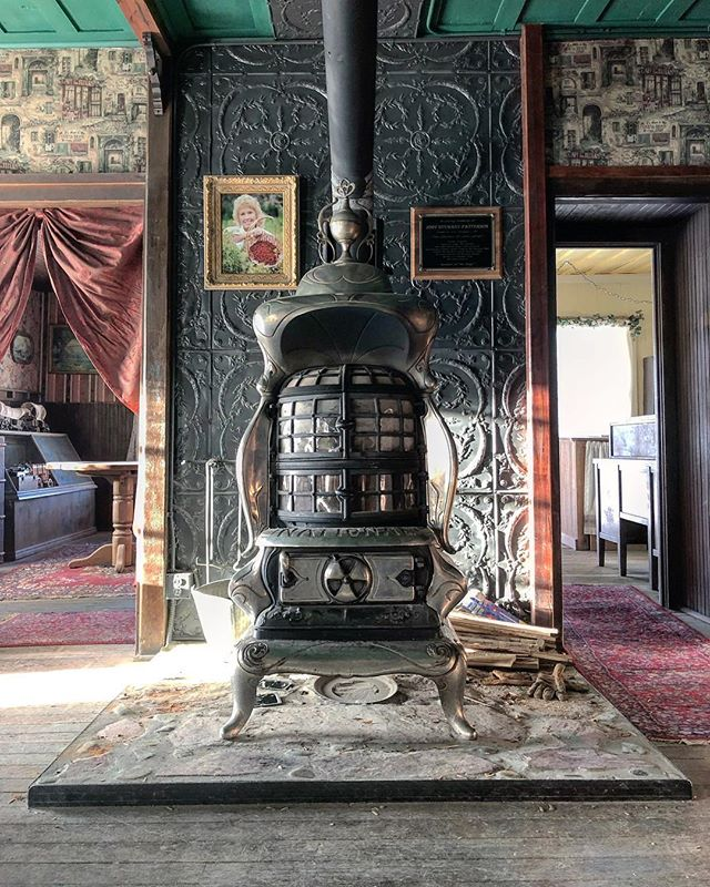 One of the most incredible antique wood burning stoves we have ever seen. Cerro Gordo Mining Town.