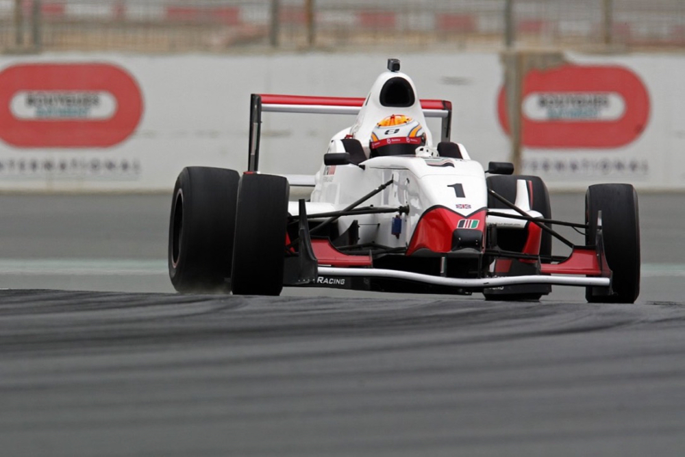 Ed Jones testing with Formula Gulf at the Dubai Autodrome