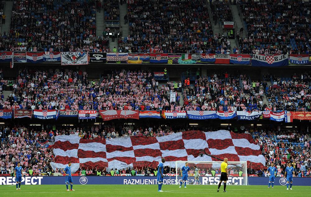 PASSION Opbakningen er altid stor, når Kroatien deltager ved en slutrunde.Billedet er fra EM 2012.–Foto: AMA/Corbis via Getty Images