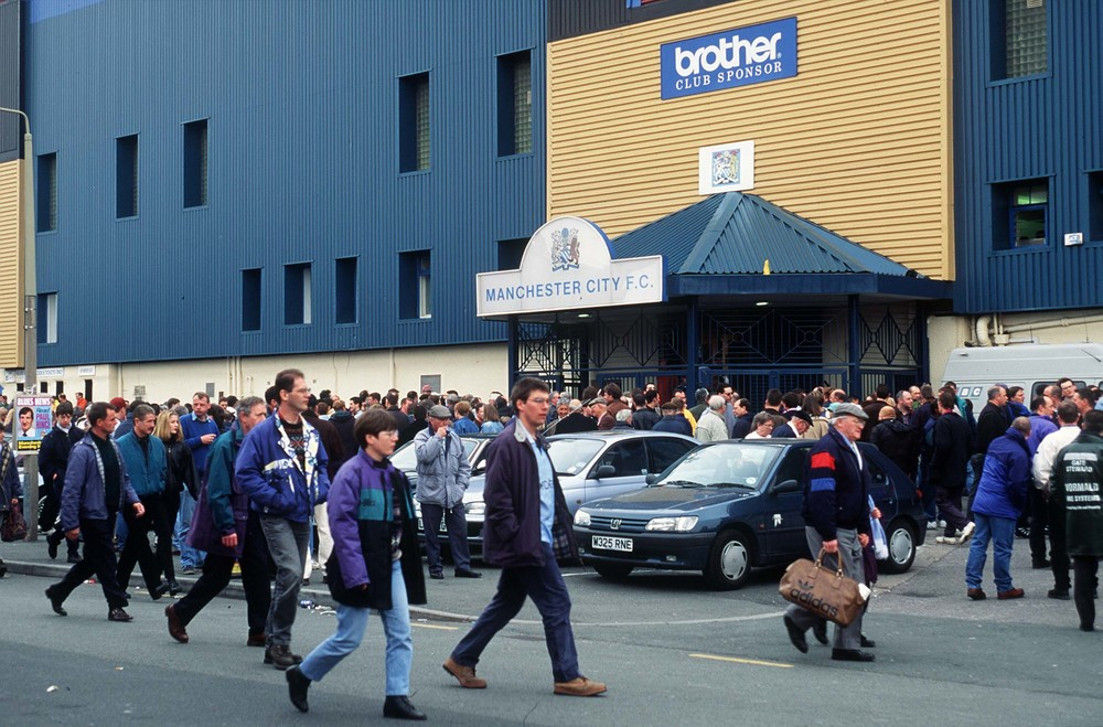 Main entrance to Maine Road stadium. - FOTO: Mark Leech/Getty Images)