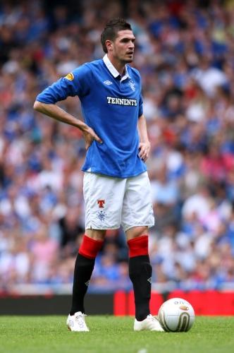 Kyle Lafferty i aktion for Glasgow Rangers i en kamp mod Kilmarnock tilbage i 2010. Foto:Ian MacNicol - Getty Images.