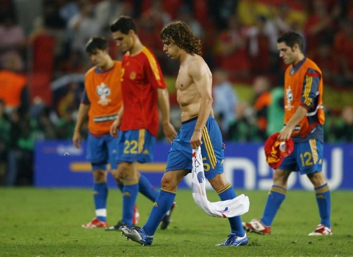 Spansk skuffelse efter VM-exit i 2006. Foto:Shaun Botterill - Getty Images.
