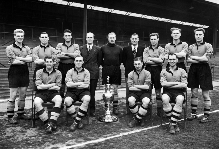 The Wolves vandt tre mesterskaber i perioden 1954-59. Foto: Popperfoto - Getty Images.