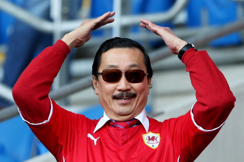 Vincent Tan, ejer af Cardiff City FC.   Foto: Scott Heavey/Getty Images