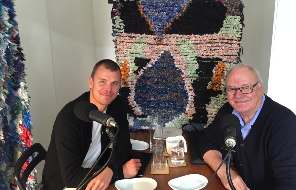 Esben Hansen og Svend Gehrs i Medianos podcast-studie, hvor der i dag blev snakket EM og finale.