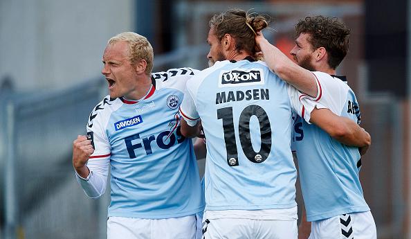 Tommy Bechman, Nicolai Madsen og Johan Absalonsen jublede mange gange i 2015/16. Foto: Getty Images/Lars Rønbøg