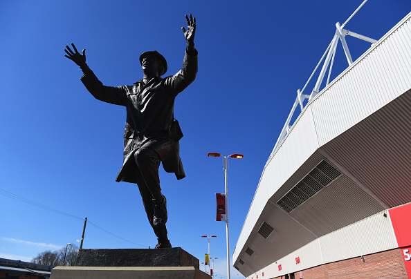 Der er i dag rejst en statue af Bob Stokoe foran Stadium of Light i Sunderland. Foto: Getty Images/Shaun Botterill