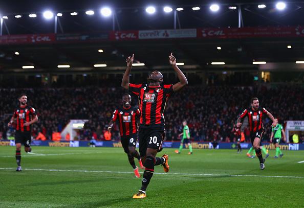 Det blev Bournemouth, der hentede Benik Afobe i Wolverhampton. Foto: Getty Images/Michael Steele.