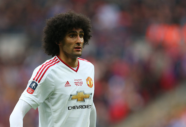 Og så kom de op med Marouane Fellaini. Foto: Getty Images/Catherine Ivill.