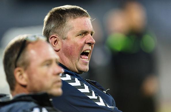 Nu råber Kent Nielsen i Odense og ikke i Aalborg. Foto: Getty Images/Allan Høgholm