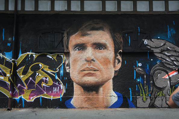 Giacinto Facchetti som vægmaleri. Foto: Getty Images/Catherine Ivill.