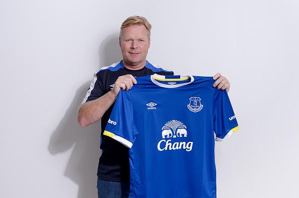 Ronald Koeman ved præsentationen i Everton. Foto: Getty Images/Tony McArdle.