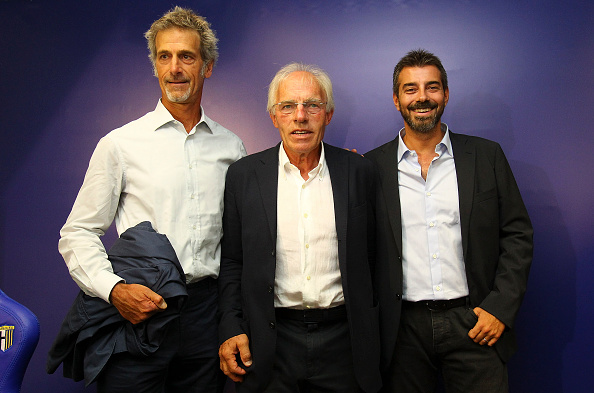 Her er redningsholdet: Guido Barilla, Nevio Scala og Marco Ferrari. Foto: Getty Images/Marco Luzzani.