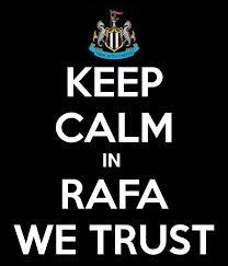 Newcastle tilhængerne har tiltro til deres manager. Foto: Getty Images