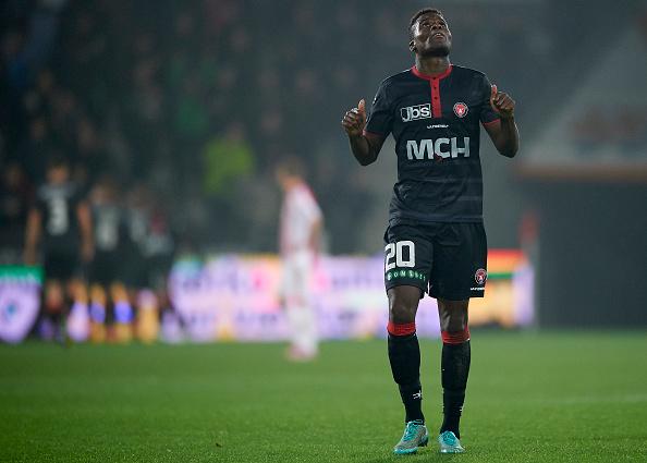 Francis Dickoh fra 2015-sæsonen i FC Midtjylland. Foto: Getty Images/Lars Rønbøg.