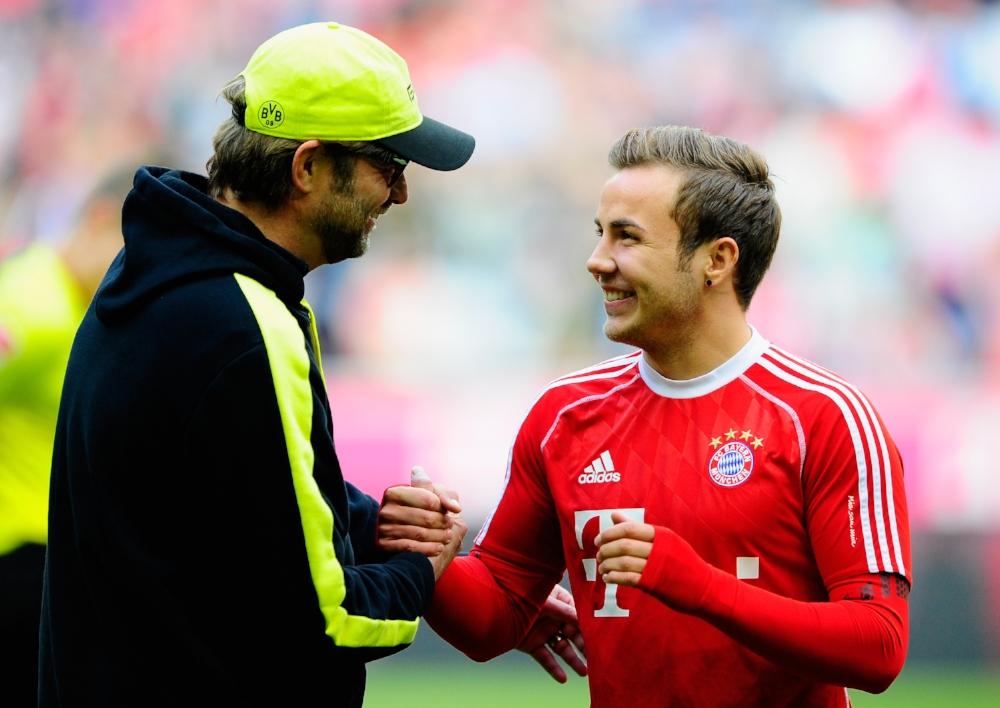 Hvis der er to, som er vilde med hinanden... Mario Götze og Jürgen Klopp bliver ikke genforenet i Liverpool.   Foto: Lennart Priess/Getty Images