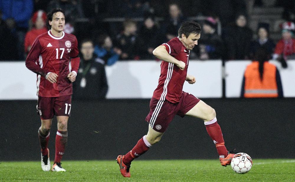 Delaney og Kvist - stærke sammen i FCK, stærke på landsholdet. Foto: Getty Images/Lars Rønbøg.