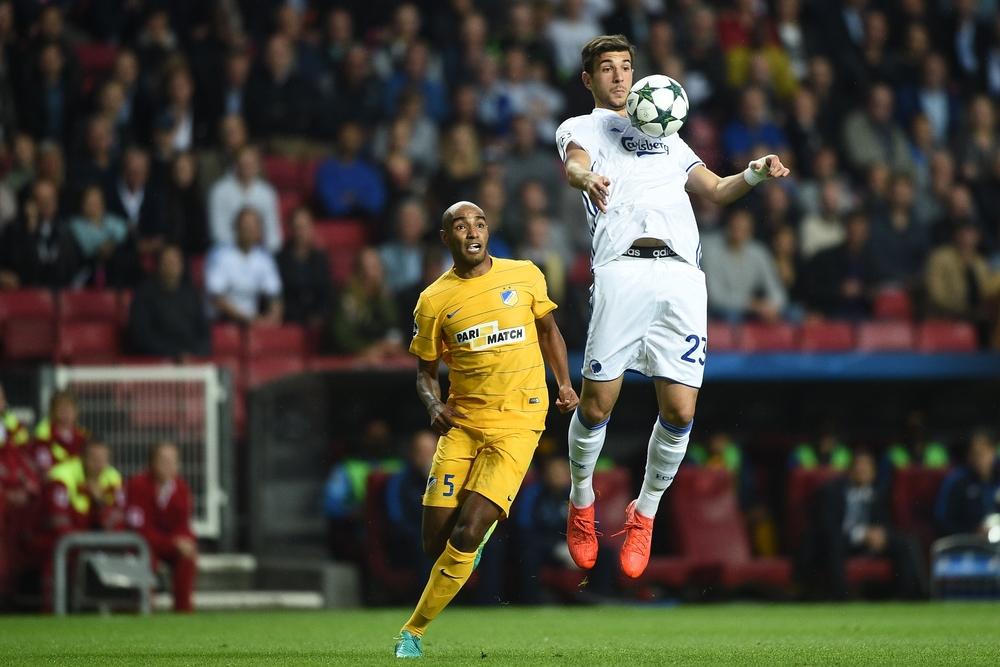 Kampene mod Apoel afgør, om FCK kommer i Champions League, hvilket har en stor indflydelse på klubbens finansielle muligheder.   Foto: Lars Rønbøg/Frontzone Sports/Getty Images