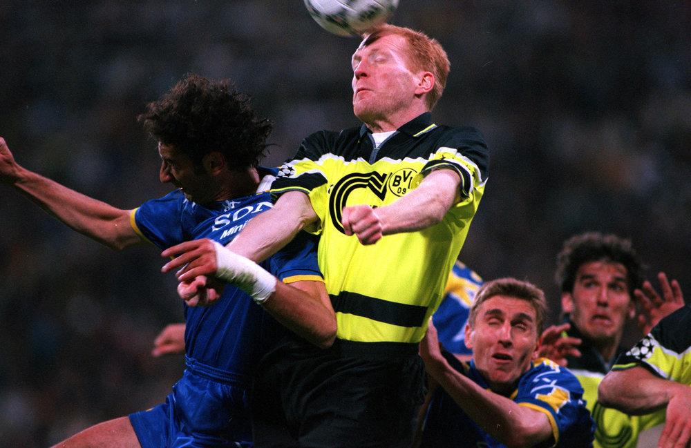 Matthias Sammer i Champions League-finalen 1997 mod Juventus. Foto: Getty Images/Popperfoto