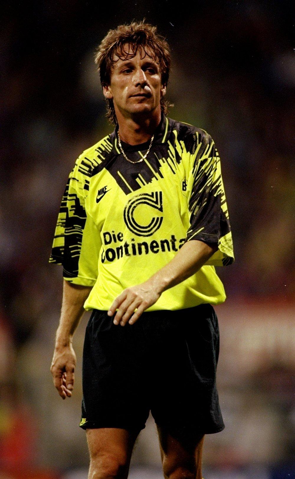 Frank Mill fra perioden, da han var kongen af Dortmund. Foto: Getty Images/Clive Brunskill.
