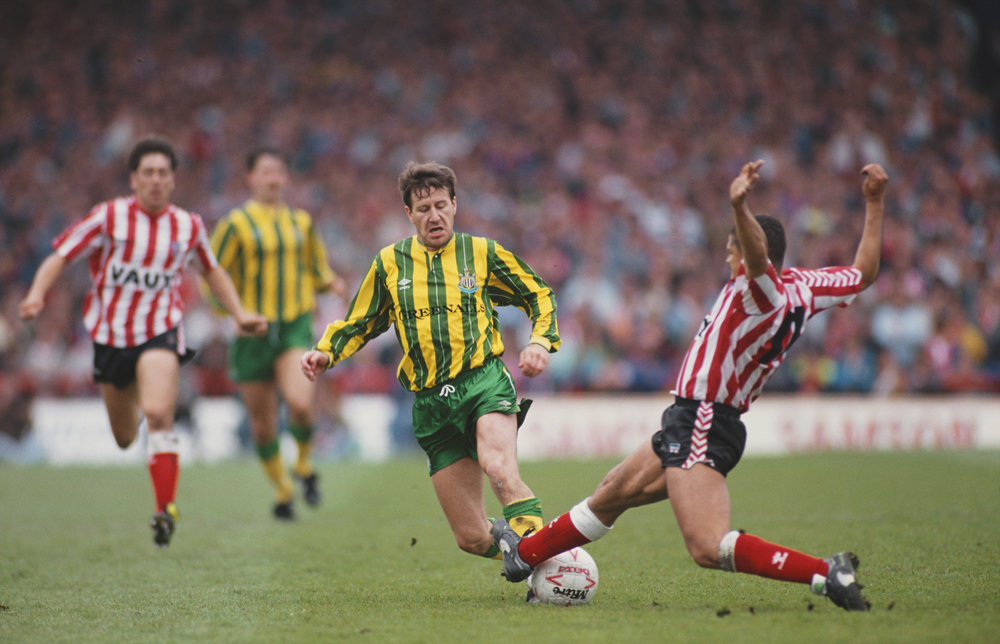 Kampsituation fra den legendariske Playoff-semifinale i 1990, som Sunderland vandt 2-0.    Foto: Getty Images