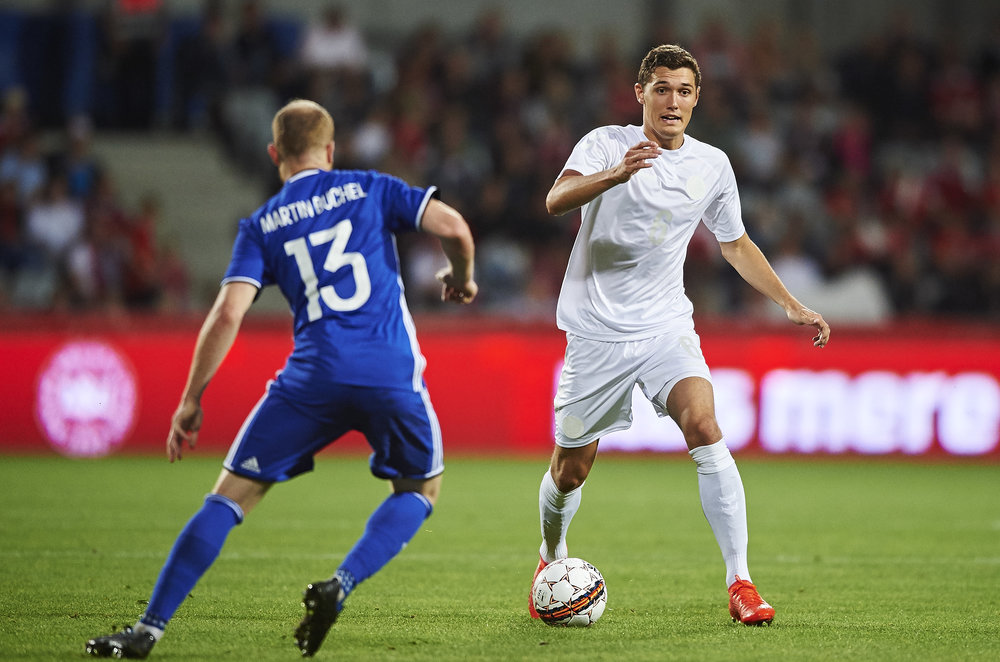 Andreas Christensen mod Liechtenstein. Foto: Getty Images/Lars Rønbøg