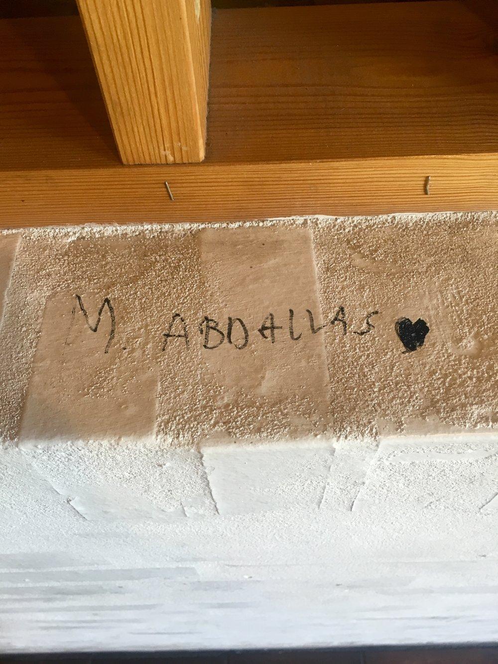 Kærligheden til Mohammed Abdalas er ikke til at tage fejl af, når man bevæger sig rundt i Fremad Amagers klubhus på Sundbyvestervej.   Foto: Sture Sandø