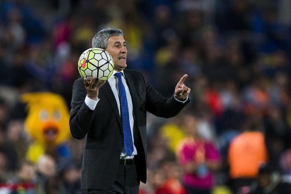 Quique Setien, Las Palmas' teknisk-elskende træner.  Foto: Getty Images
