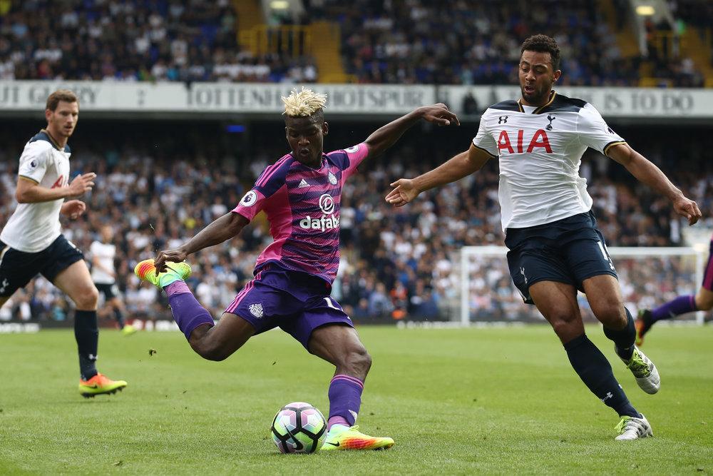 Nyindkøbet Didier Ndong var Sunderlands bedste spiller i 0-1-kampen mod Tottenham.   Foto: Julian Finney/Getty Images