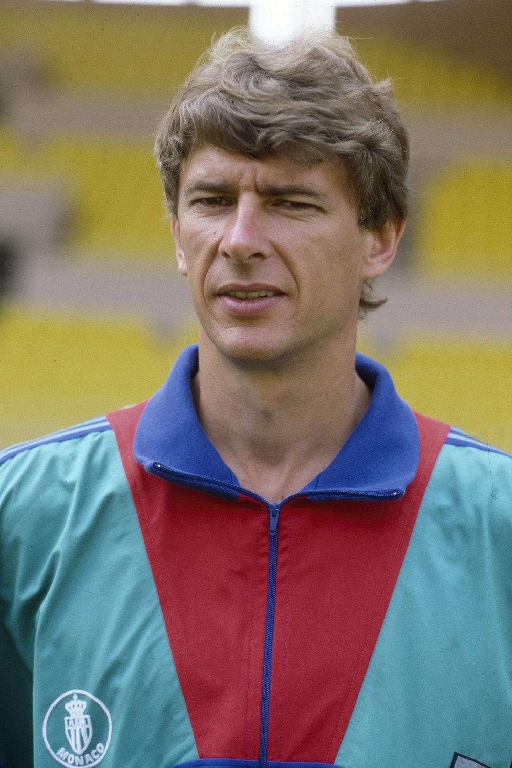 Arsène Wenger i Monaco. Billedet er fra 1990. Foto: Getty Images