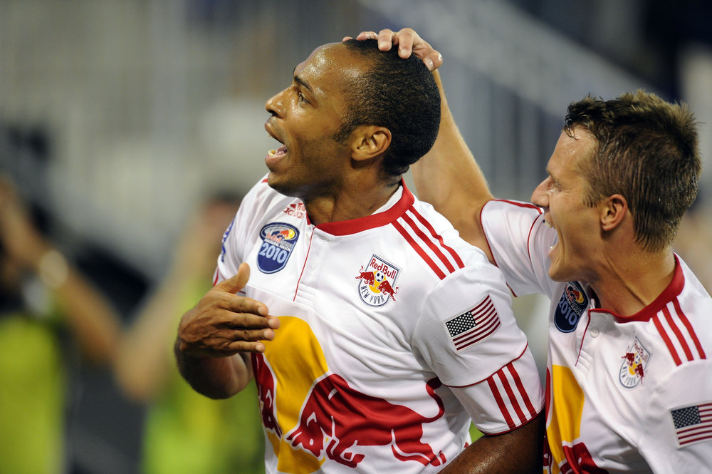 Thierry Henry scorer for New York Red Bulls i en venskabskamp mod Tottenham. Foto: Getty Images