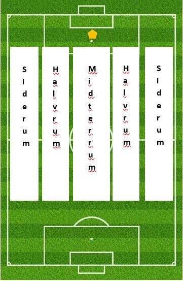 Figur 2: Hovedrum i banens længderetning.